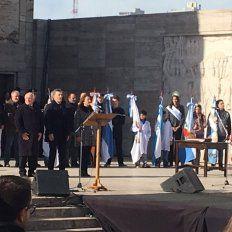 macri encabeza en rosario el acto por el dia de la bandera