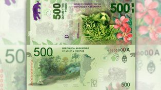 Hoy comienza a circular el nuevo billete de 500 pesos con la imagen de un yaguareté