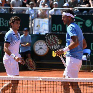 argentina gano el dobles y se impone por 2-1 frente a italia en la serie de cuartos de final de la davis