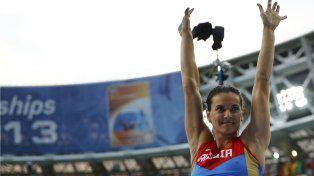 Yelena Isinbayeva, una de las atletas rusas que manifestó su desacuerdo con la suspensión.
