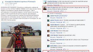 La chica desaparecida en Brasil publicó un mensaje en el Facebook de Cancillería