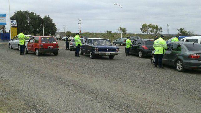 Los efectivos realizaron el control de alcoholemia a 429 conductores y labraron 62 actas de infracción por distintas faltas a las normas de tránsito.