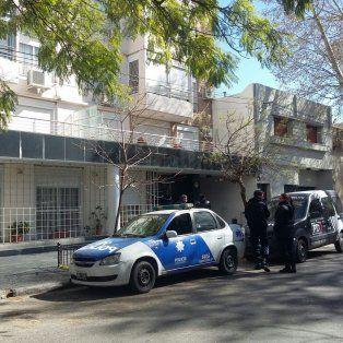 El operativo frente a la casa de Tiki Martínez.