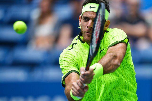 Juan Martín del Potro logró avanzar a cuartos de final en el US Open.