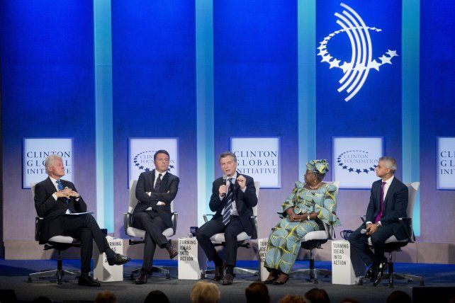 El presidente Mauricio Macri expusó hoy en la Clinton Global Initiative.