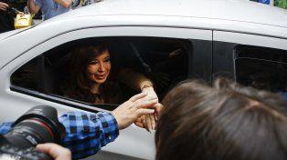 La expresidenta Cristina Fernández se presentó hoy ante al juez federal Julián Ercolini.