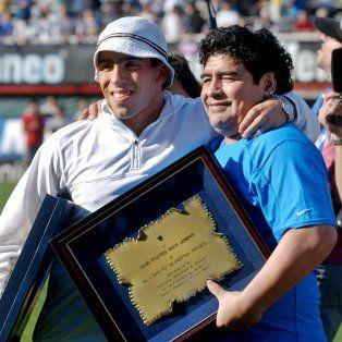 Diego Maradona y Carlos Tevez, un romance sin fin.