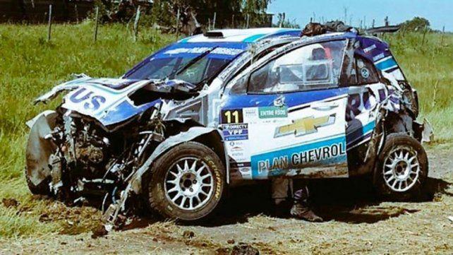 El video del terrible accidente que sufrió Nalbandian corriendo en el Rally Argentino