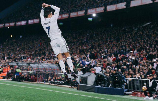 El festejo de Cristiano Ronaldo