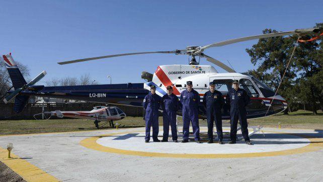 Scabuzzo y el resto de la Brigada durante la inauguración del helipuerto de la UR II