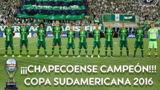 Chapecoense fue declarado campeón de la Copa Sudamedicana por la Conmebol