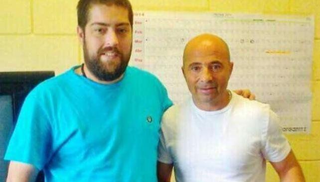 El técnico casildense fue a visitar a su amigo el Pato Fontanet a la cárcel de Ezeiza.