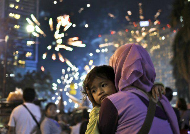 Las celebraciones en el Hotel Indonesia Roundabout.