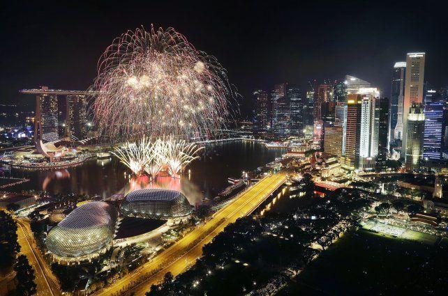 El distrito financiero de Singapur