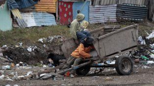 pobreza. Menores que viven de juntar residuos.