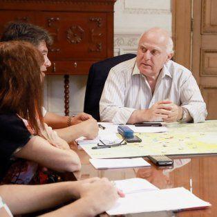 El gobernador Miguel Lifschitz presidió hoy una nueva reunión del comité de crisis de la provincia.