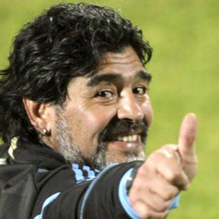 Maradona, en su etapa de DT de la selección.