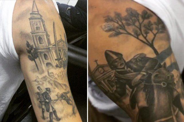 Las imágenes del tatuaje que se hizo el futbolista