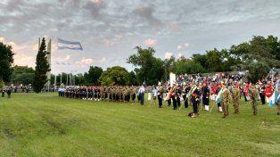 El acto por el 204º aniversario del Combate de San Lorenzo se realizó esta tarde en el Campo de la Gloria.