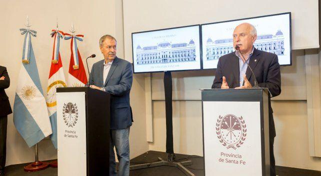 Lifschitz y Schiaretti juntos tras la reunión con equipos técnicos en Córdoba.