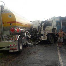La colisión se produjo en el kilómetro 14 de la autopistaBrigadier General Estanislao López.