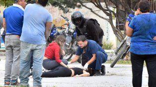 Candela González fue baleada ayer en la ciudad chubutense.