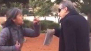 Guillermo Moreno pasó un mal momento al ser increpado por una mujer en una plaza