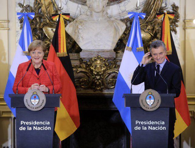 Merkel se mostró contenta de ser socia de la Argentina y elogió la política de Macri