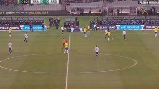 Argentina le ganó a Brasil por 1 a 0 en el debut de Sampaoli