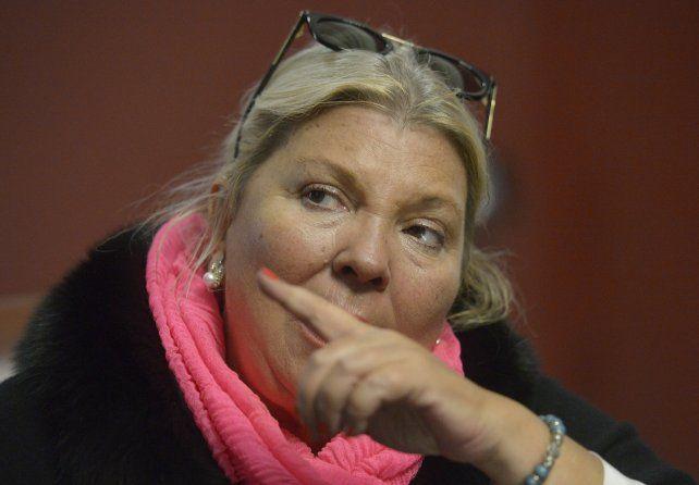 Lilita Carrió estuvo en Rosario para acompañar a los candidatos de Cambiemos en Santa Fe.