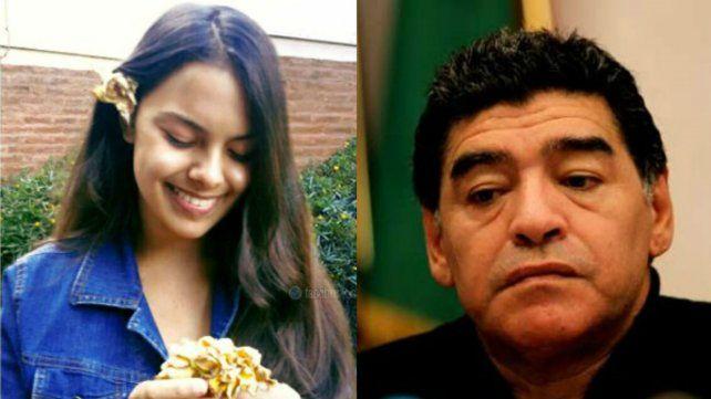 El sentido recuerdo de Maradona para Anahí, la adolescente asesinada