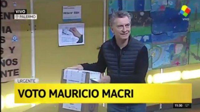 Votó Macri y espera que los argentinos se expresen en todos lados con alegría