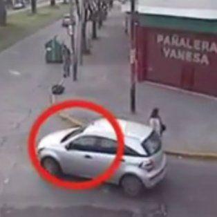 un video muestra como huyo el conductor que mato a una nena de 8 anos