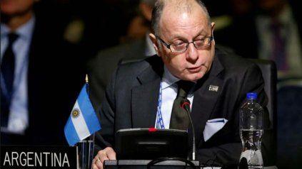 El canciller argentino Jorge Faurie habló sobre la crisis en Bolivia.