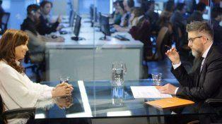 Sentí tensión entre los dos de principio a fin, contó Novaresio sobre la entrevista a Cristina