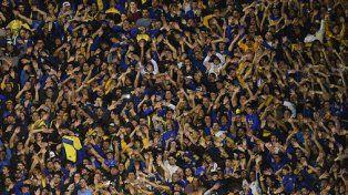 La hinchada de Boca le dio la bienvenida a la selección argentina entonando el himno