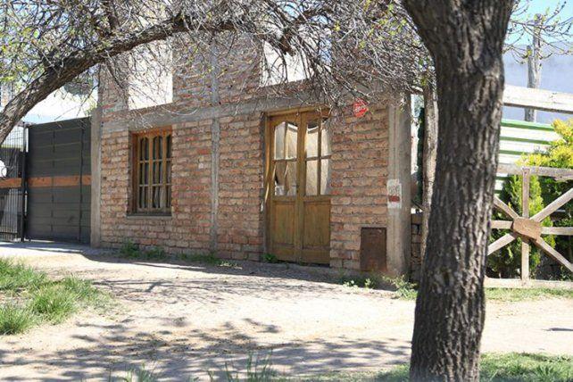 La imagen de la casa de la joven que permanece detenida.