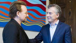 Encuentro en Casa Rosada. El presidente Macri recibió a Bono