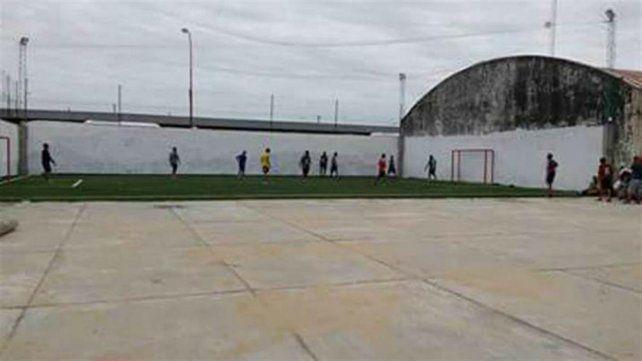 El lugar. La cancha de fútbol 5 donde se accidentó Federico Pereyra