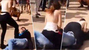Una joven enfrentó a un acosador de una manera por lo menos llamativa