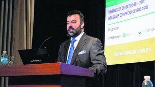 perspectivas. Antonio Ochoa, vicepresidente de OBrien, hizo su análisis sobre el futuro del mercado global de granos.