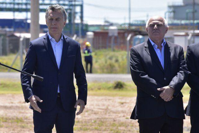 Macri y Lifschitz durante la última visita presidencial en territorio santafesino.