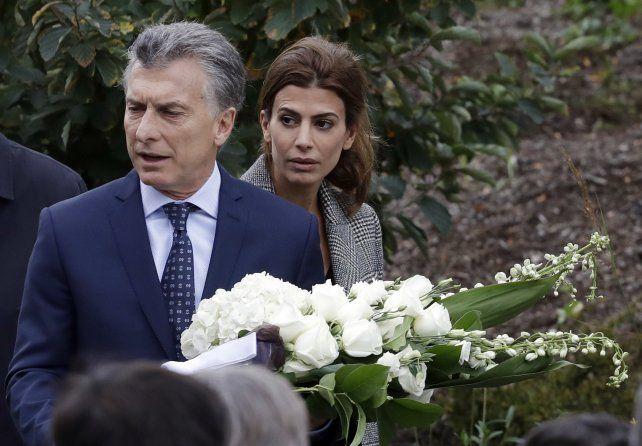 El presidente Mauricio Macri y la primera dama Juliana Awada