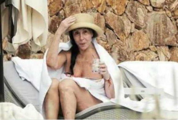 Sin maquillaje. La foto de Moria a cara lavada que circuló en las redes sociales.