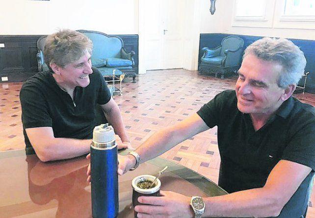 Mateada. El ex vicepresidente fue invitado por el legislador del FpV.