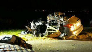 Un muerto al chocar un auto y un camión en la autopista a Santa Fe entre Maciel y Monje
