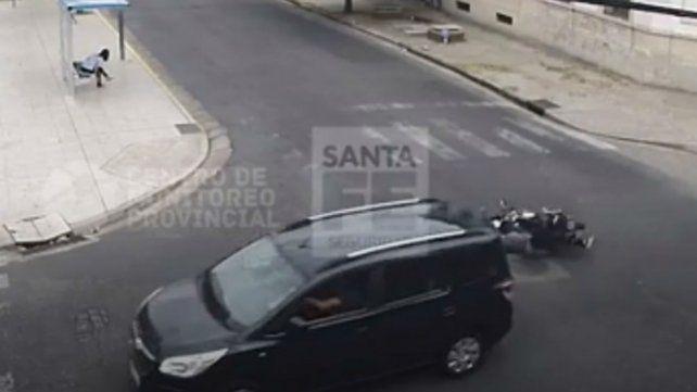 El impactante video de una mujer embarazada atropellada por un auto