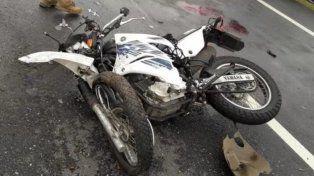 Falleció un motociclista que quedó envuelto en un accidente en la autopista a Rosario