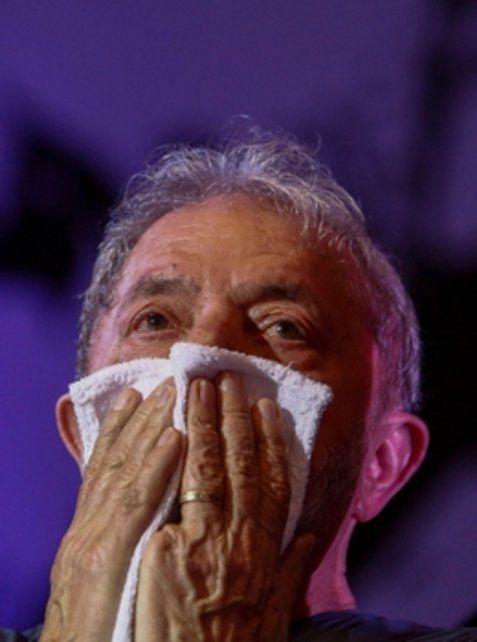 Desazón. Lula siguió el juicio en su contra desde San Pablo. Tiene hasta el 10 de abril para presentar un recurso