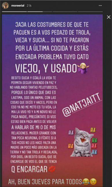 La hija de Jorge Rial destrozó a Natacha Jaitt